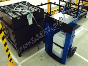wózek serwisowy do akumulatorowni